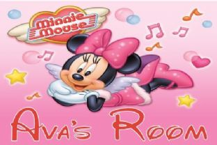 Personalised Minnie Mouse Door Plaque